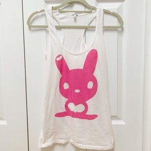 Forever 21 Pink Bunny Tank Top